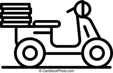 style, contour, nourriture, moto, livraison, icône