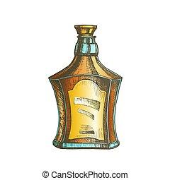 style, couleur, casquette, bouchon, vecteur, bouteille, dessiné, écossais