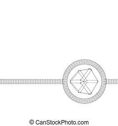 style, cube, lattice., dots., lignes, polygonal, grille, brochure., polygons., conception, moléculaire, en-tête lettre, structural