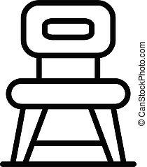 style, cuisine, chaise, icône, contour