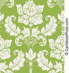 style, damassé, rose, papier peint, ornement, seamless, modèle, floral, baroque
