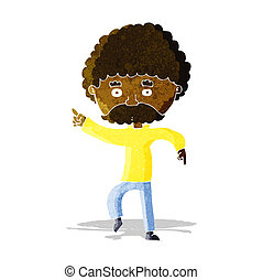 style, danse, années soixante-dix, disco, dessin animé, homme