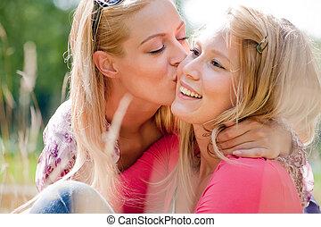 style de vie, baiser