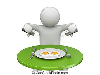 style de vie, collection, -, petit déjeuner