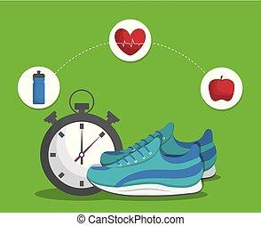 style de vie, conception, fitness