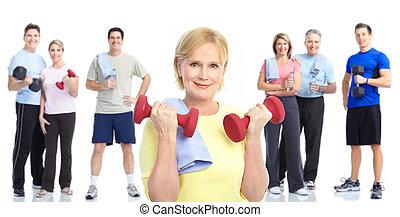 style de vie, fitness, gymnase, sain