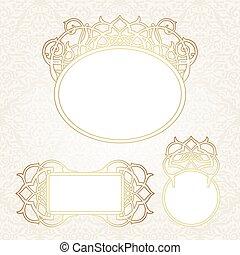 style., dekorativ, viktorianische , vektor, rahmen