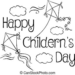 Style design children day doodle