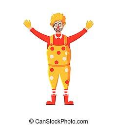 style, dessin animé, clown, icône