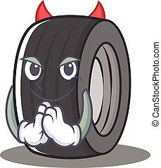 style, diable, caractère, dessin animé, pneu