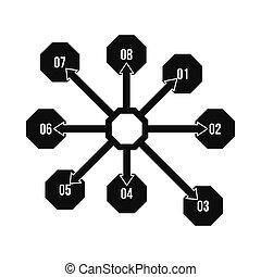 style, diagramme, simple, organigramme, plan, icône