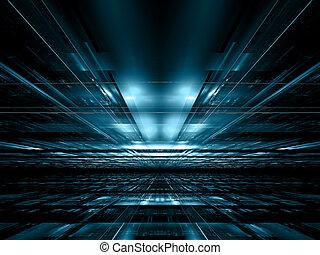 style, digitalement, résumé, -, engendré, technologie, perspective, fond, image