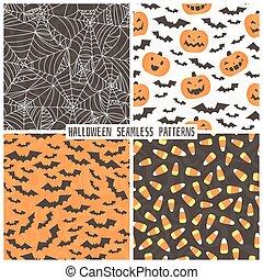 style, ensemble, arrière-plans, halloween.