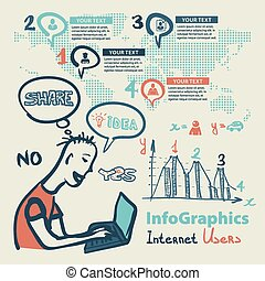 style, ensemble, internet, global, croquis, infographics