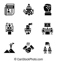 style, ensemble, politique, simple, nouvelles, icône