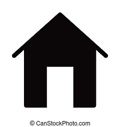 style, façade, silhouette, emmagasiner icône