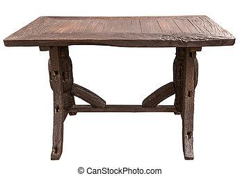 style, fait, vieux, bois, vendange, charrette, bois, table