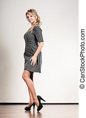 Elegant woman with dress.