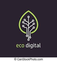 style, feuille, arbre, icône, numérique