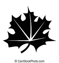 style, feuille, canadien, simple, icône, érable
