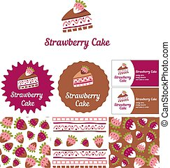Style for a candy store, ready desserts and cakes to order