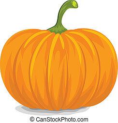 Style, Fresh, Decorative Yellow Pumpkin for Halloween.