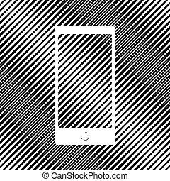style, gadget, résumé, moderne, screen., gabarit, vide, n'importe quel
