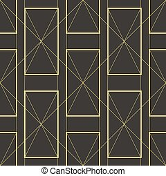 style., geometrisch, kunst, streng, moderne, vormen, deco, illustratie, vector, model