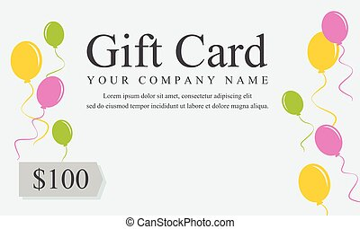 Style gift voucher card collection vector illustration