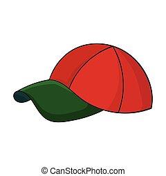 style, golf, illustration., club, symbole, casquette, isolé, arrière-plan., vecteur, blanc, icône, dessin animé, stockage
