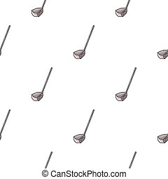 style, golf, illustration., club, symbole, isolé, arrière-plan., vecteur, blanc, icône, dessin animé, stockage