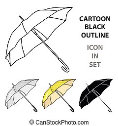 style, golf, illustration., icône, club, symbole, isolé, arrière-plan., vecteur, blanc, parasol, dessin animé, stockage