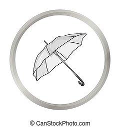 style, golf, illustration., icône, club, symbole, isolé, arrière-plan., vecteur, monochrome, blanc, parasol, stockage