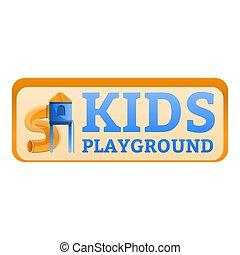 style, gosses, tunnel, cour de récréation, dessin animé, logo