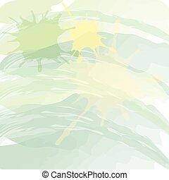 style, gradient, résumé, aquarelle, arrière-plan vert