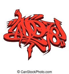 style, graffiti, étiquetage