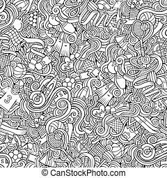 style, hand-drawn, sports, thème, doodles, dessin animé, sujet