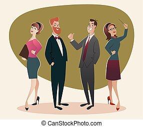 style, hommes, 60, success., business, 50, fier, leur, retro...