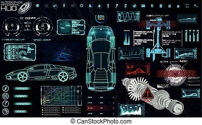 style, hud, (troubleshooting), balayage, voiture, moderne