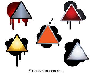 style, huile, signes, slicks, alerte, peinture, vide, ou