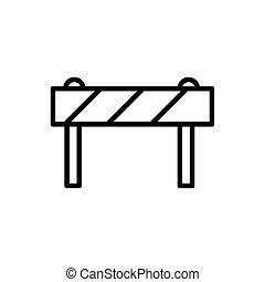 style, icône, équipement, barrière, architecture, ligne