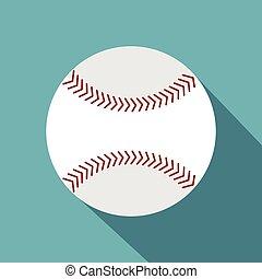 style, icône, balle, softball, plat
