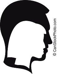 style, icône, gens, transgender, simple