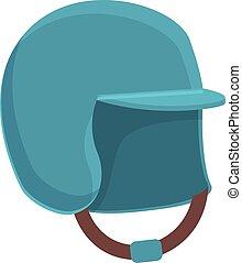style, icône, lancer, casque, dessin animé