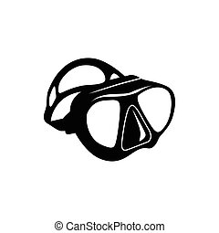 style, icône, plongeon, simple, masque