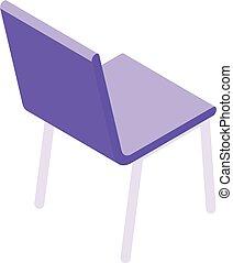style, icône, pourpre, chaise, isométrique
