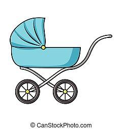 Ic ne style poussette dessin anim enfants ic nes - Poussette dessin ...