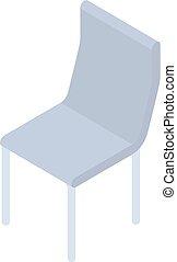 style, isométrique, textile, icône, chaise, doux