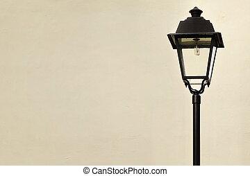 style, jardin, lampe, victorien, rue, poste, ou