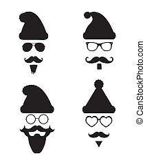 style, klaus, silhouette, mode, hipster, santa